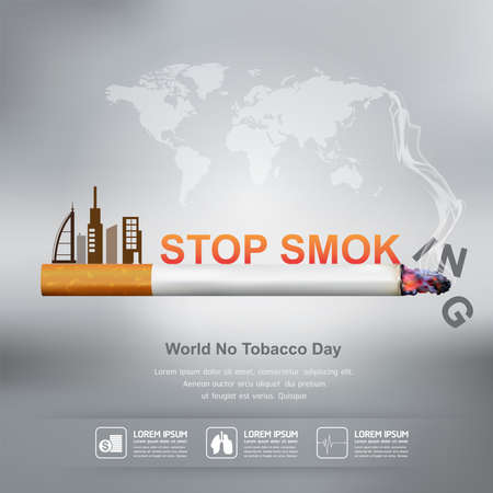 World No Tobacco Day Vector Concept Stop Smoking Illustration