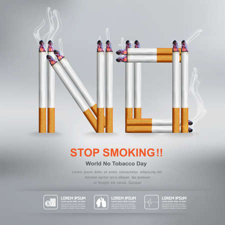 smoking stop: World No Tobacco Day Vector Concept Stop Smoking Illustration