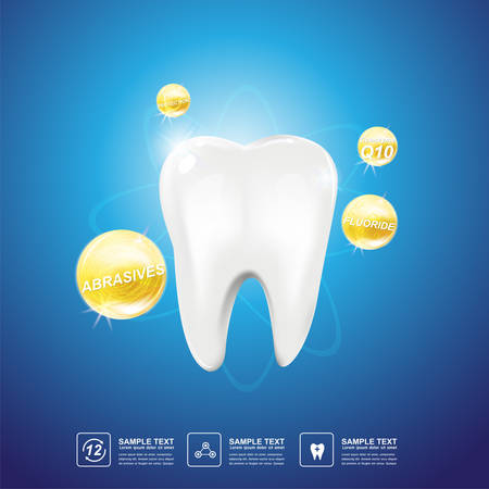 sensitivity: Dental care Tooth Icon vector Concept.