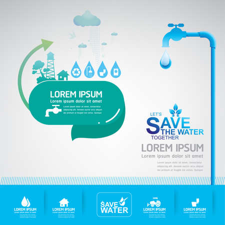 clean off: save water vector concept ecology