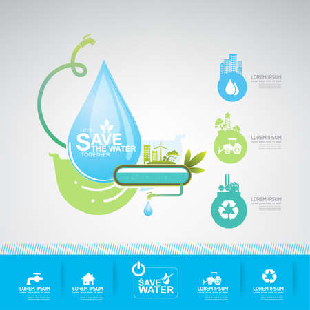 recycle: save water vector concept ecology