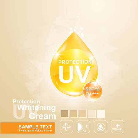 ultraviolet: Protection UV and Whitening Cream Skin care concept