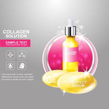 collagen: Collagen Serum Concept Skin Care