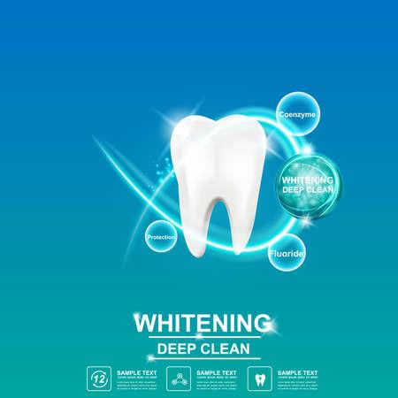Cuidado del diente Concepto del icono del vector dental. Ilustración de vector