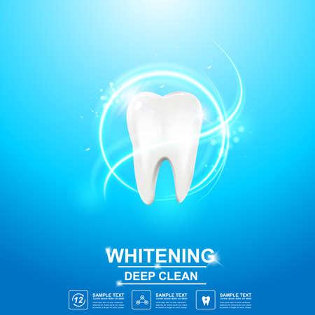 pasta de dientes: Cuidado del diente Concepto del icono del vector dental.