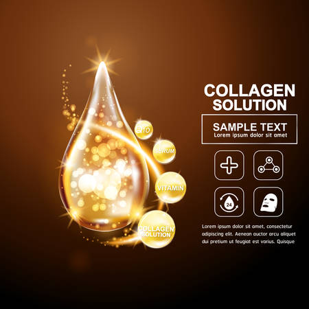 collagen: Collagen Serum Concept Skin Care