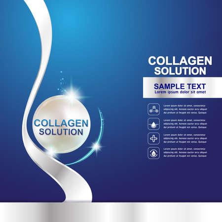 collagen: Collagen Serum Template, Concept Skin Care