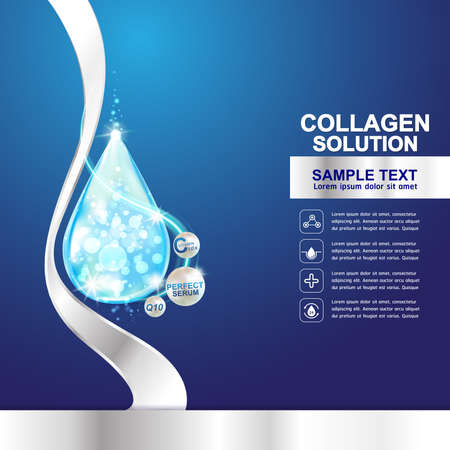 collagen: Collagen Serum Template, Concept Skin Care