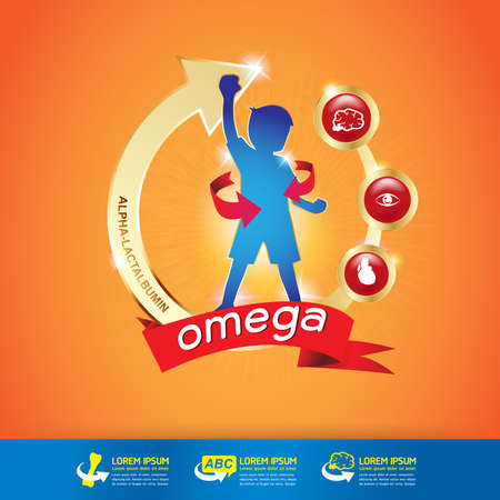 Kids Omega Calcium and Vitamin - Concept Gold Kids