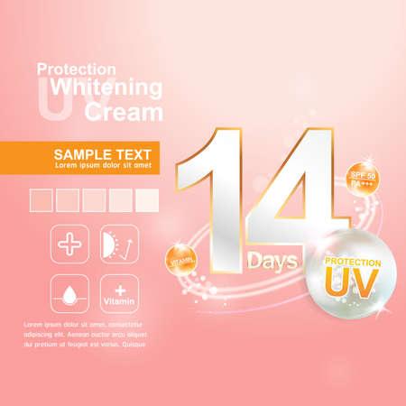 uva: Protection UV and Whitening Cream Skin care concept