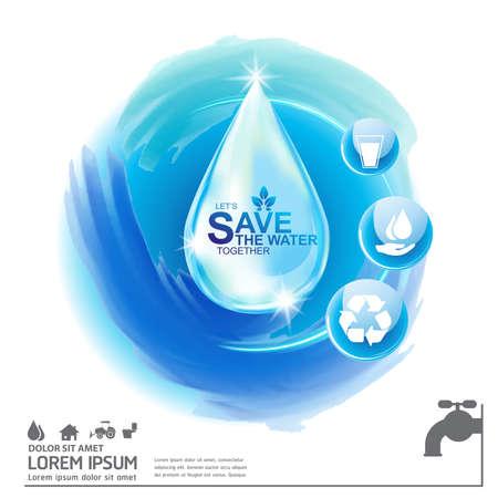 Save Water Vector Concept Sauvez la vie