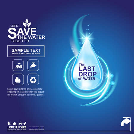 clean off: Save Water Vector Concept Save Life