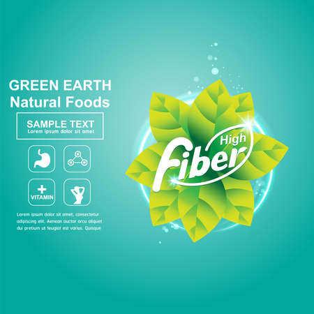 usda: Fiber in Foods  and icon Vector