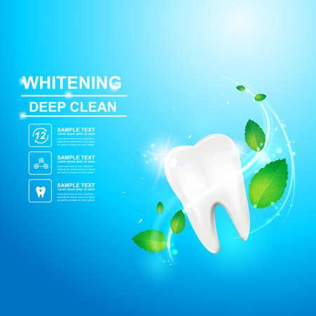 dentin: Dental care Tooth Icon vector Concept.