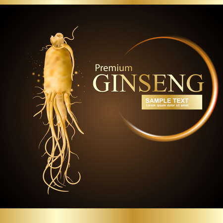 plant to drink: Ginseng Premium Vector Illustration