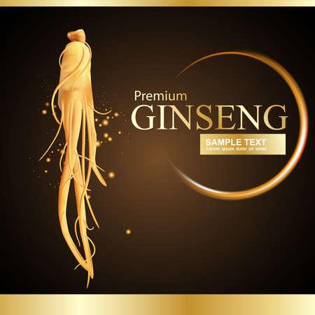 oriental medicine: Ginseng Premium Vector Illustration