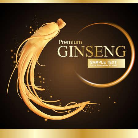 Ginseng Premium Vector Vectores