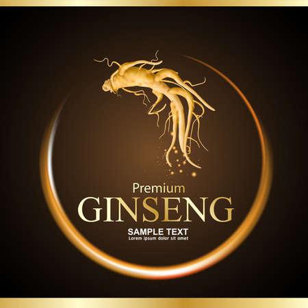 Ginseng Premium Vector 일러스트