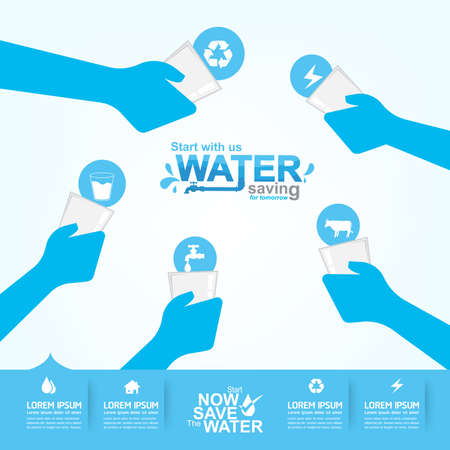 taps: Save Water Vector Concept Saving