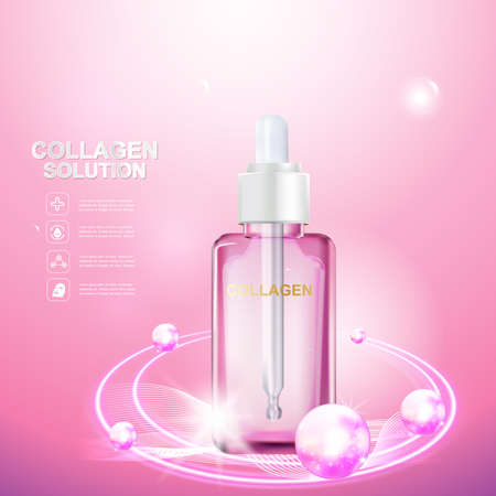 beauty care: Collagen Serum and Vitamin Beauty Concept Skin Care Cosmetic.