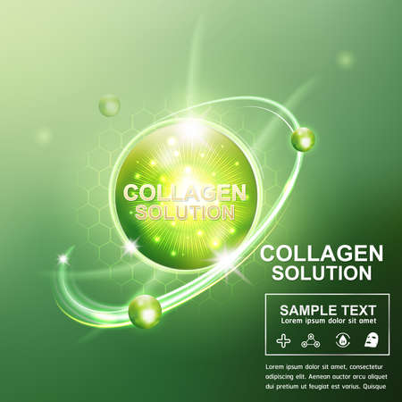 Collagen Serum and Vitamin Beauty Concept Skin Care Cosmetic.