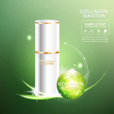 crinkle: Collagen Serum and Vitamin Beauty Concept Skin Care Cosmetic.