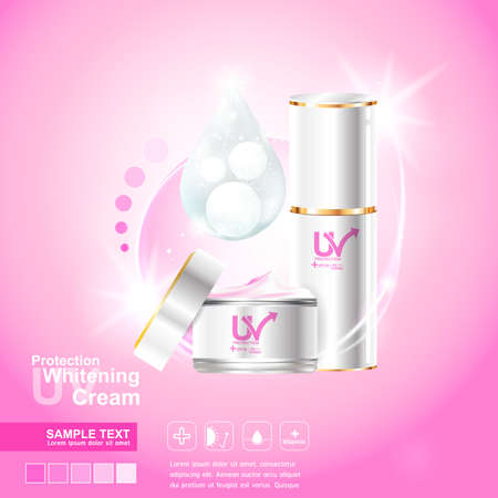scaly: Protection UV and Whitening Cream Skin care concept