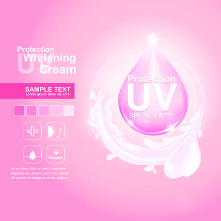 oxidant: Protection UV and Whitening Cream Skin care concept