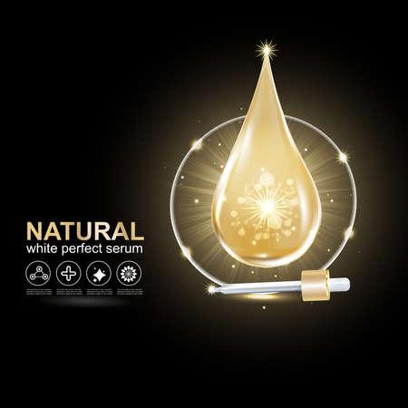Collagen Serum and Vitamin Concept Skin Care Cosmetic.