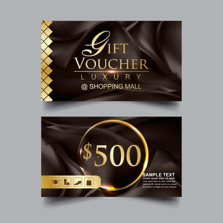 Gift Voucher Luxury Sale Vector