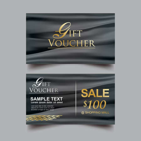 cosmetic product: Gift Voucher Luxury Sale Vector