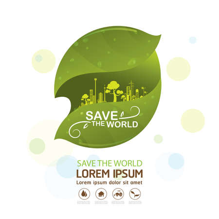 preserve: Save The World Vector Concept Go Green