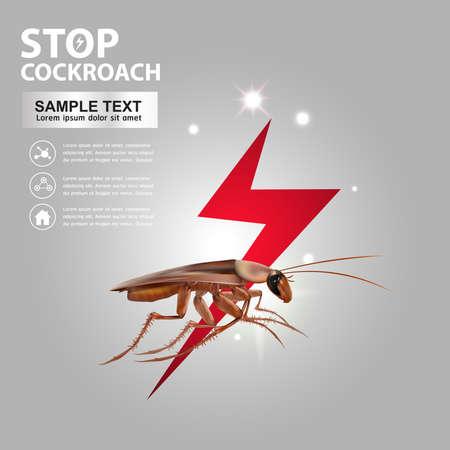 termite: Stop Cockroach Vector Illustration