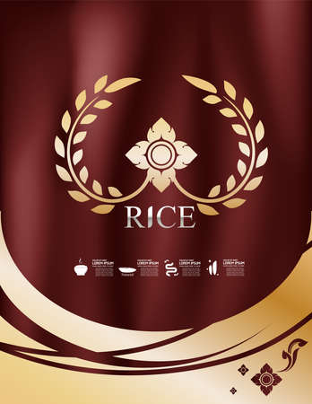 Rice: Rice Thai background for Products. Illustration