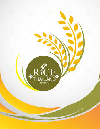 Rice Thai background for Products. Vektorové ilustrace