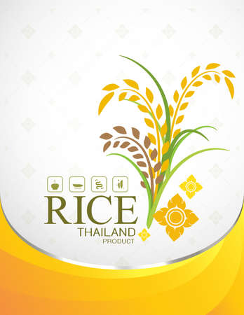 Rice Thai background for Products. Illustration