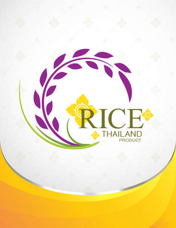 rice plant: Rice Thai background for Products. Illustration