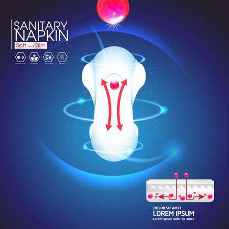 vaginal: Sanitary Napkin Vector Background