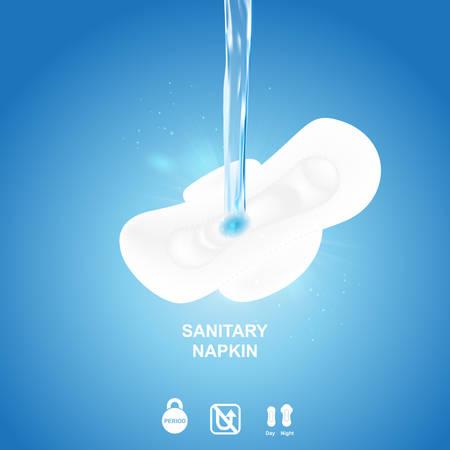 sanitary napkin: Sanitary Napkin Vector Background