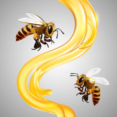 꿀 벡터 일러스트