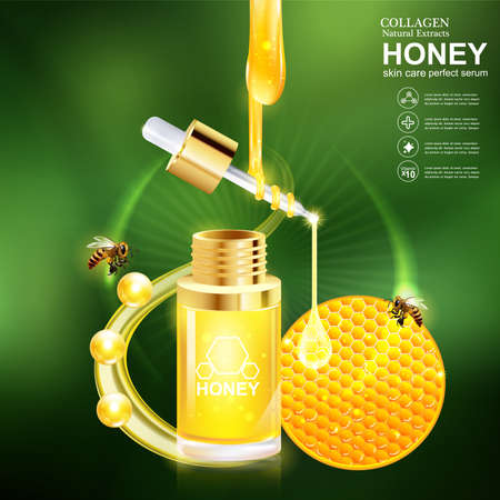 Honey Serum and Collagen Vector