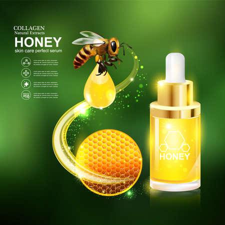 buttocks: Honey Serum and Collagen Vector