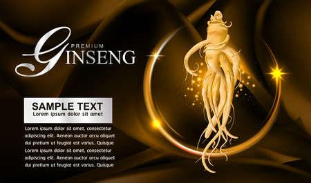 oriental medicine: Ginseng Vector Illustration