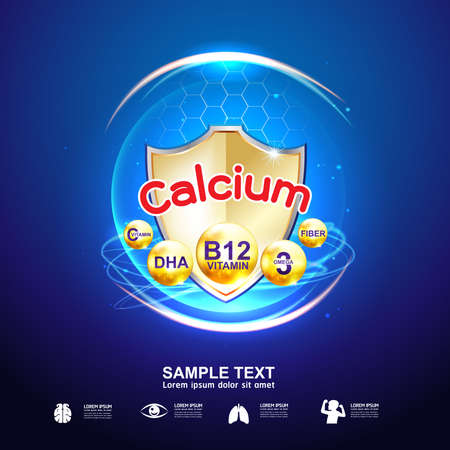 Calcium Omega and Vitamin for Kids Logo