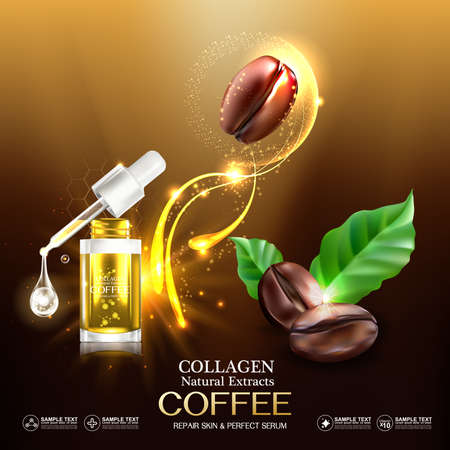 Collagen and Vitamin for Skin Concept, vector illustration.