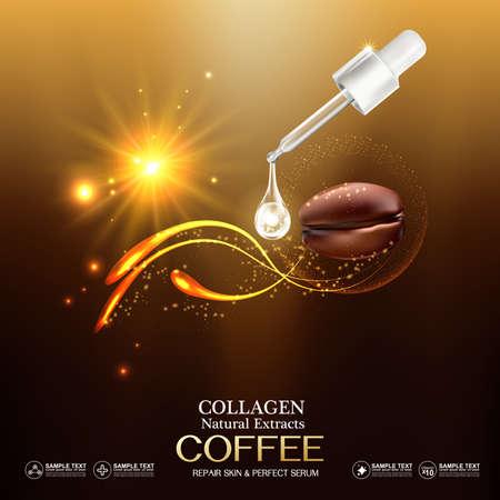 crinkle: Collagen and Vitamin for Skin Concept, vector illustration.