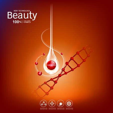 Skin care concept icon.