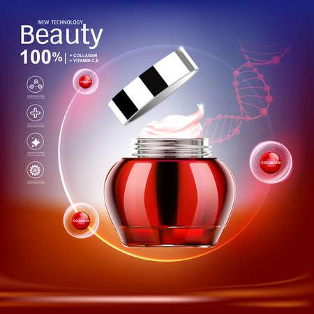 Skin care cream icon.