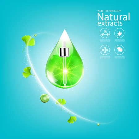 Collagen Serum and Vitamin Background Concept Skin Care.