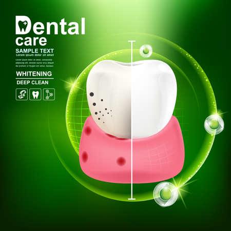Soins dentaires dent icône vecteur Concept.